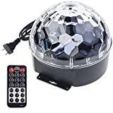 Welcome HK Crystal Sound Activated LED Stage Light 9 Colors with Remote Control for Halloween, Christmas, Home, Birthday, Karaoke, Dance Party (9 Color)