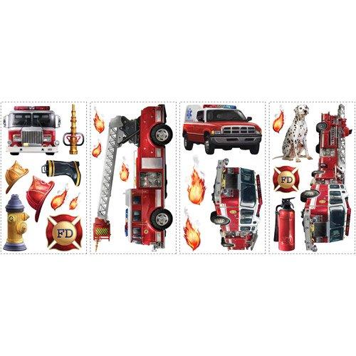 RoomMates Fire Brigade Peel and Stick Wall (Fire Brigade Peel)
