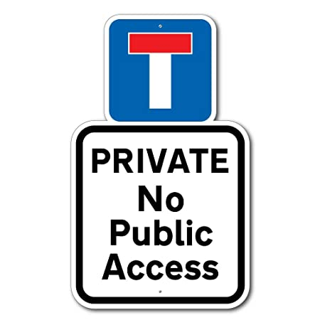 jaf graphics private road sign robust private driveway sign no