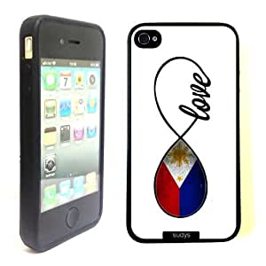 SudysAccessories Filipino Love Phillippines Flag Infinity Love ThinShell Case Protective iPhone 4 Case iPhone 4S Case