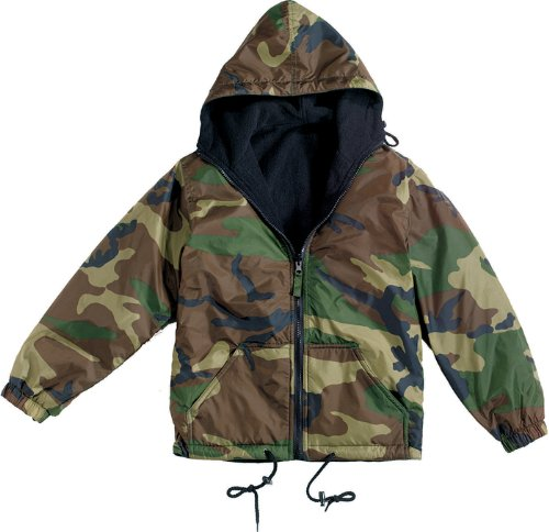 Camouflage Reversible Nylon Jacket Woodland Camo (2XL) (Reversible Woodland Jacket Nylon Camo)