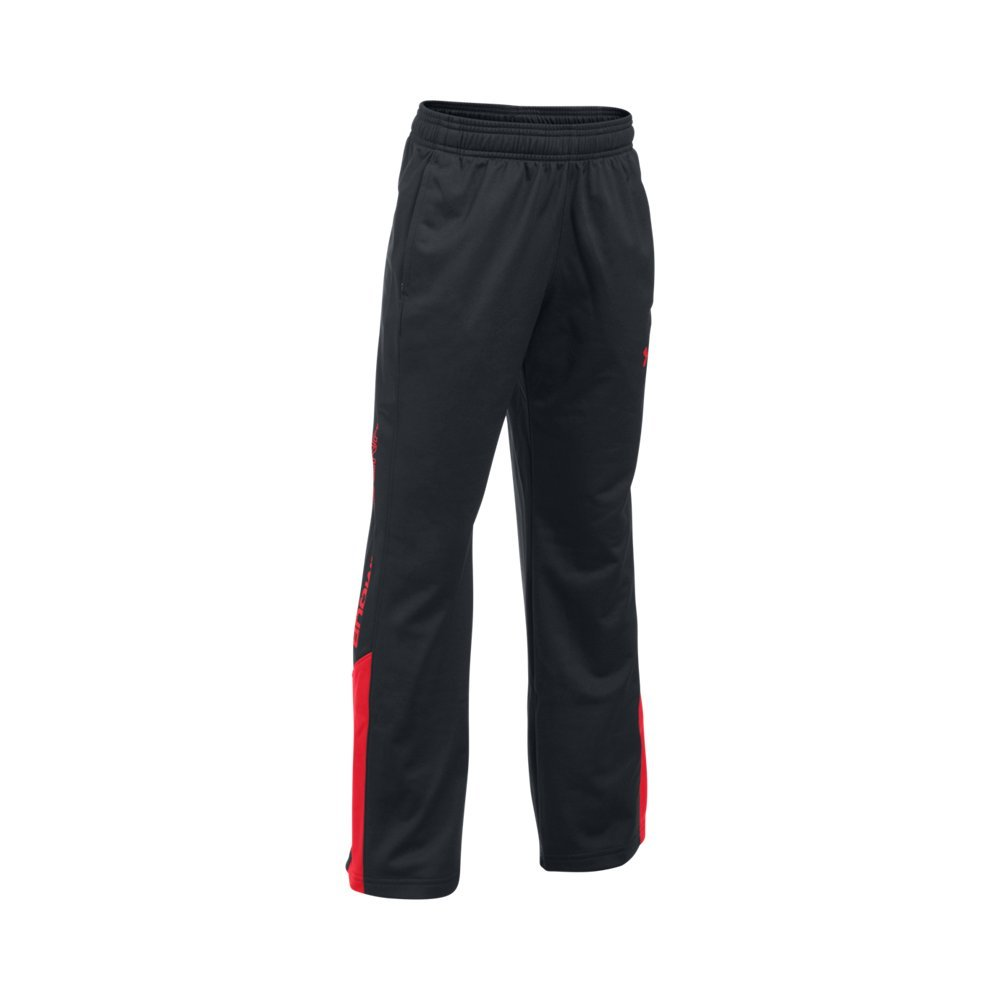 Under Armour Boys Brawler 2.0 Pant, Black/Red, Youth Medium