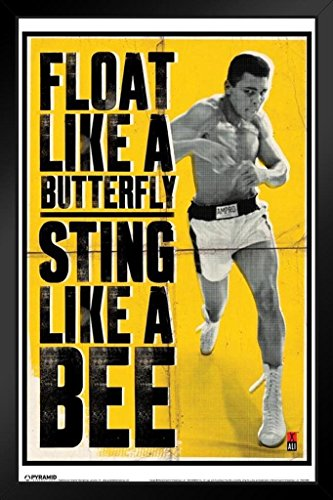Pyramid America Muhammad Ali Float Like A Butterfly Framed Poster 14x20 inch -