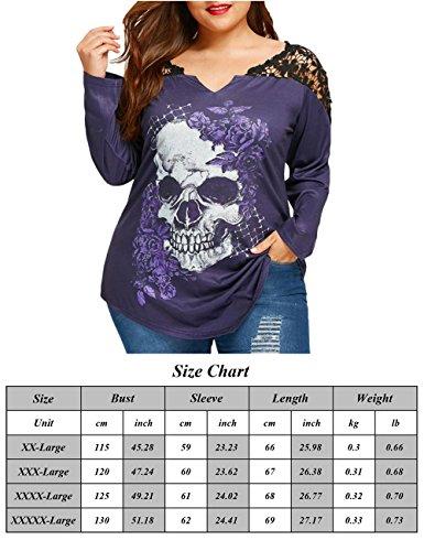 Amazon.com: xugwlkj Plus tamaño de la mujer manga larga ...