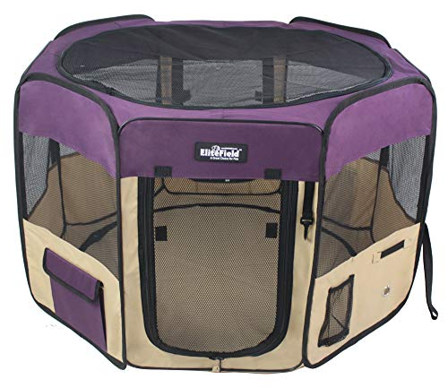 EliteField 2-Door Soft Pet Playpen, Exercise Pen, Multiple Sizes and Colors Available for Dogs, Cats and Other Pets