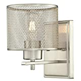 Westinghouse Lighting 6327800 Morrison One-Light Indoor Wall Fixture, Brushed Nickel Finish with Mesh Shade,