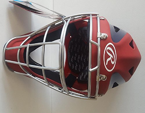 Rawlings CHVELY Velo Youth Red / Navy Catchers Helmet Fits 6 1/2''-7'' by Rawlings