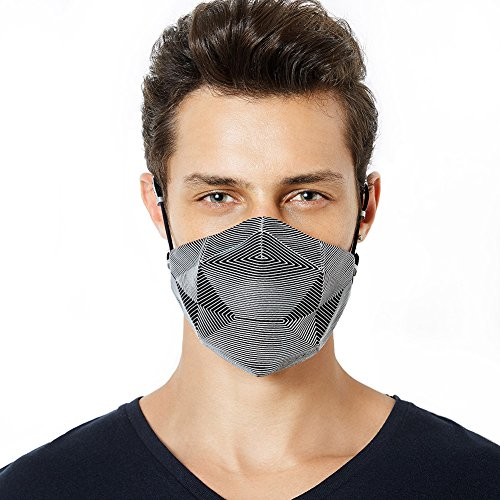 MeHow Fashion Mouth Mask, Anti-Pollution Mask with Replaceable Filters Valve, KN 95 Medical Military Grade, Dust/Pollen/Allergy/Asthma/Travel/Sports/Washable/Daily Use (1 Mask + 2 Filters) (Silver) by MeHow
