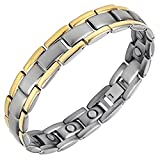 Titanium Magnetic Bracelet Adjustable Oyster Watch Band Type for Arthritis & Migraine Pain Relief by ZENITH WELLNESS