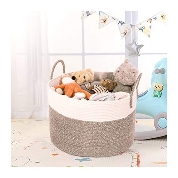 """INDRESSME Cotton Rope Basket 