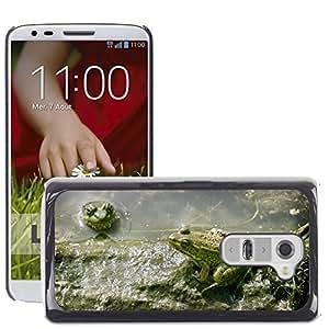 Cas Coq Case Cover // M00147660 Anfibio de la rana verde fangoso Animal // LG G2 D800 D802 D802TA D803 VS980 LS980