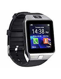 Bluetooth Smart Watch with Camera for Iphone and Android Smartphones Samsung Sony LG (sliver)