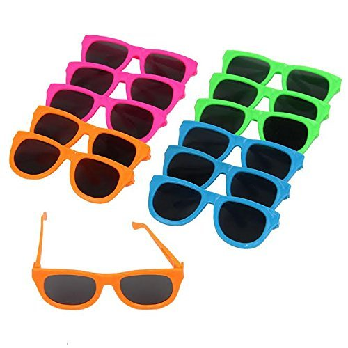Dazzling Toys Neon Colored Party Sunglasses-12 (D231) (Halloween Costume Ideas With Glasses)