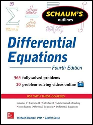Schaum 39:s Outline of Differential Equations, 4th Edition (Schaums 39: Outline Series)