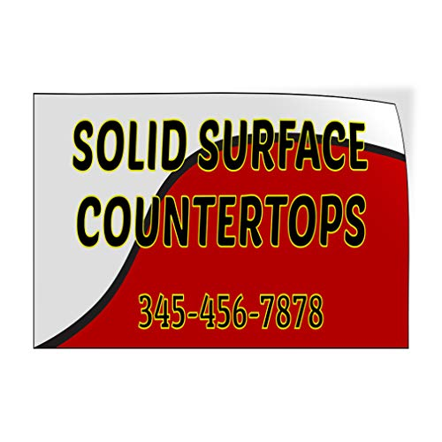 Custom Door Decals Vinyl Stickers Multiple Sizes Solid Surface Countertops White Business Countertops Outdoor Luggage & Bumper Stickers for Cars White 48X32Inches Set of 2 (Best Outdoor Countertop Surface)