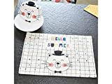 Pullic Mini Garden Decoration Rectangle Cotton Cat Tablecloth for Home Kitchen Garden Outdoor Use(Colorful)