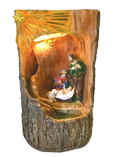 16 Inch Holy Family with Light and Water Fountain by Love's Gift