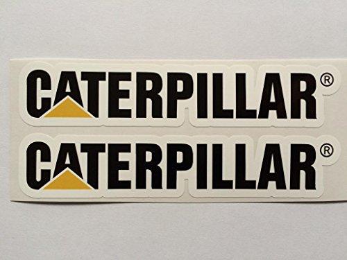 2 Caterpillar Die Cut Decals