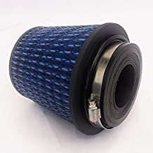 "Rev9Power Rev9_AF-001-BLUE ; Universal High Performance Intake Cone W/ Adaptor From 2.25"" to 4""(Blue)"