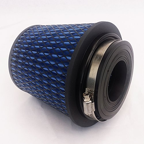 Universal Cone Adapter - Rev9Power Rev9_AF-001-BLUE ; Universal High Performance Intake Cone W/ Adaptor From 2.25