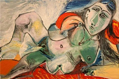 'Pablo Picasso - Nude Woman With Necklace, 1968' Oil Painting, 8x12 Inch / 20x31 Cm ,printed On High Quality Polyster Canvas ,this Replica Art DecorativePrints On Canvas Is Perfectly Suitalbe For Garage Decor And Home Artwork And Gifts