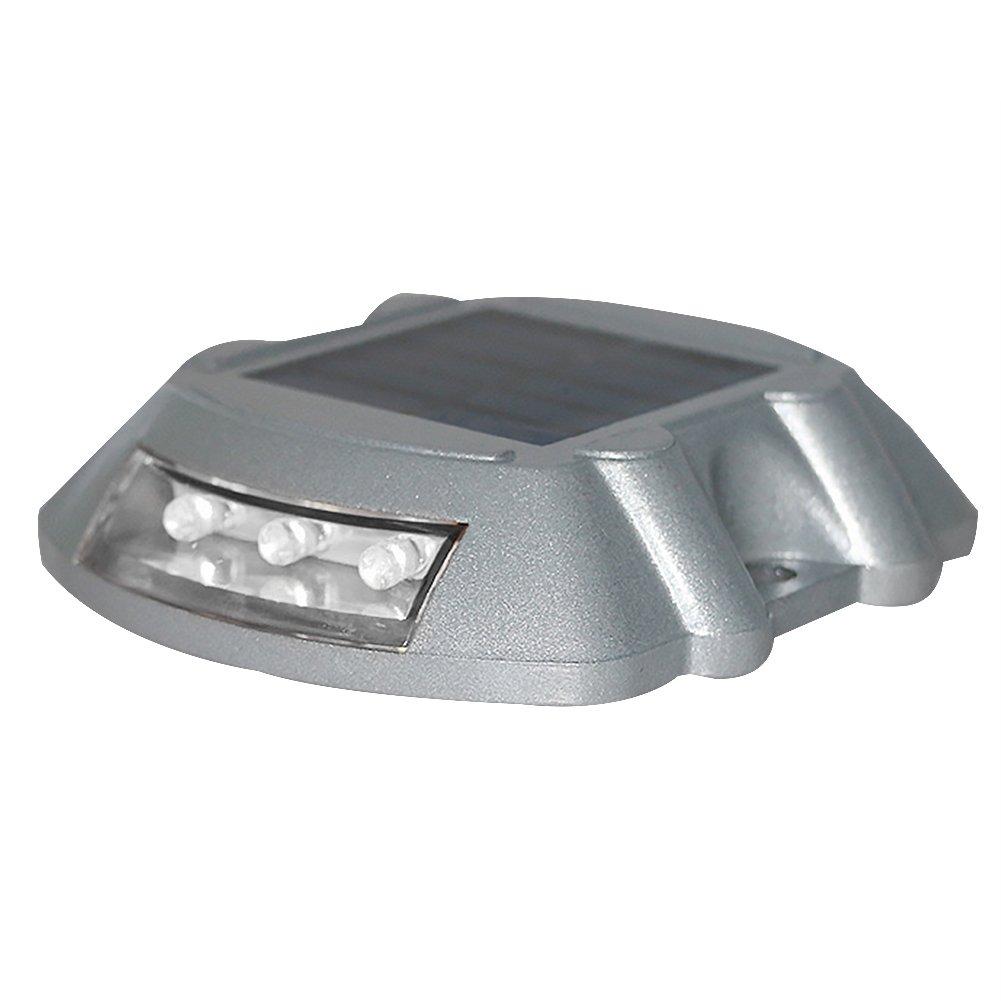 Solar Driveway Light, Super Bright Waterproof Garden Path Automatically Illuminated Studs LED Flash Light(White)