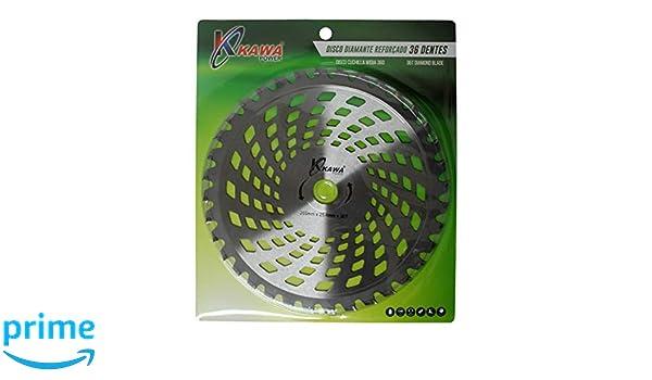 Kawapower KW002 Disco cuchilla de Widia con 36 puntas para ...