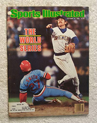(Robin Yount - Milwaukee Brewers - 1982 World Series Champions! - Sports Illustrated - October 25, 1982 - St Louis Cardinals - Lonnie Smith - SI)