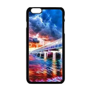 """Abstract colorful river bridge Phone Case for iPhone 6 Plus 5.5"""""""