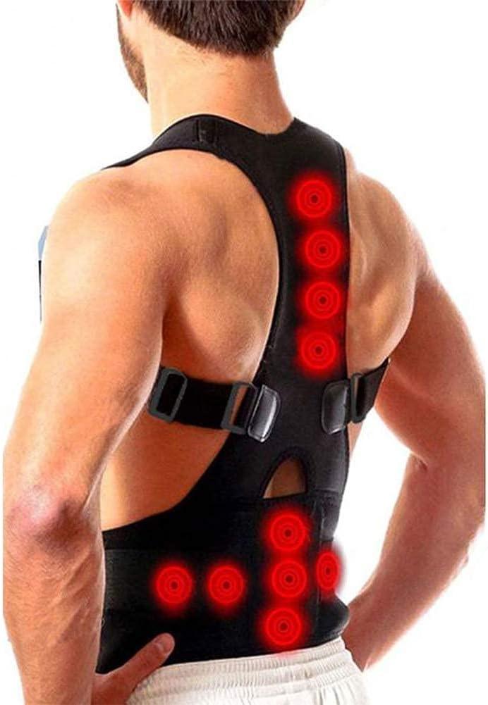 Estabilizador de Espalda para Mujeres y Hombres para la corrección de la Postura, Entrenador de Postura ortopédico magnético Que Alivia el Dolor y los Hombros caídos (Size : L)