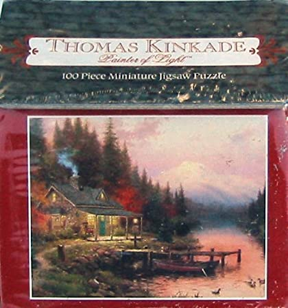 Thomas Kinkade Painter Of Light 100pc Miniature Puzzle The End Of A Perfect Day