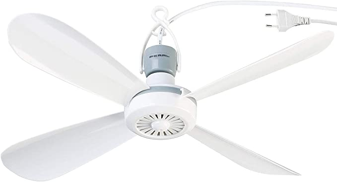 Ventilador de techo portátil 230 V con colgador, diámetro de 40 cm ...