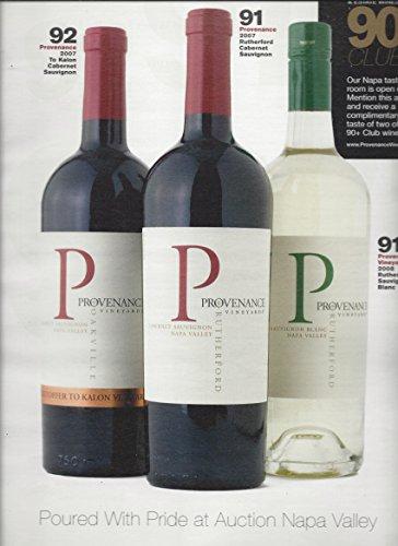 -PRINT AD- For 2007/8 Provenance Vineyard Wine 90+ Club Rating Scene -PRINT AD-