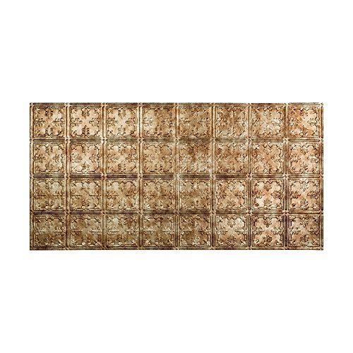 Fasade Easy Installation Traditional 10 Bermuda Bronze Glue Up Ceiling Tile / Ceiling Panel (2' x 4' Tile) by Fasade