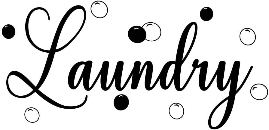 Imposing Design Laundry 23 x 11 Vinyl Wall Quote Decal Sticker Laundry Room Clean Clothes Detergent Sports Team Decal Art Decor Motivational Inspirational Jordan Lettering