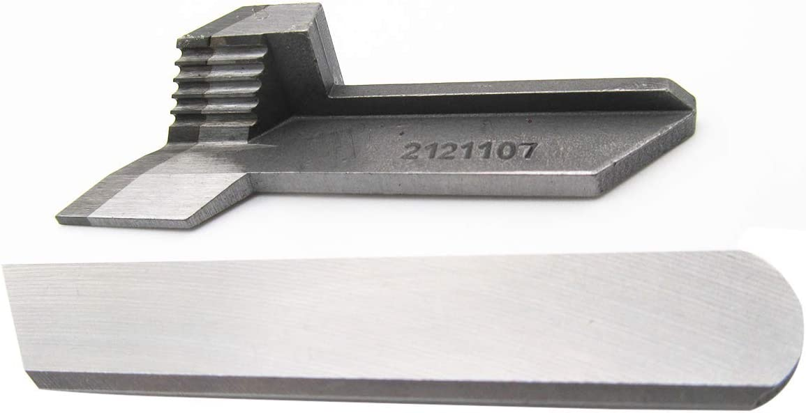 CKPSMS - 1 juego #2121107+2121111 cuchillo superior e inferior para máquina de coser Yamato AZ8600, AZF8600
