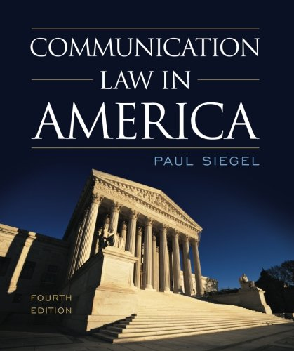 Communication Law in America by Rowman & Littlefield Publishers