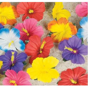 Amazoncom Hibiscus Flowers For Tabletop Decoration 24 Toys Games