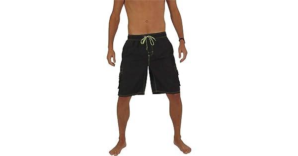 274efb37d2f93 NORTY Mens Swim Trunks - Watershort Swimsuit - Cargo Pockets - Drawstring  Waist - Order One Size Larger