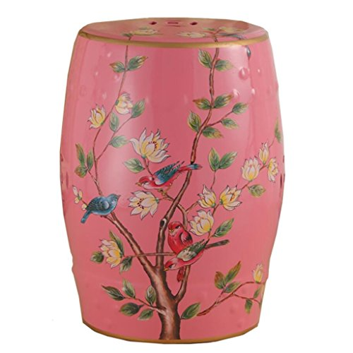 - AIDELAI Bar Stool Chair- European-Style Hand-Painted Ceramic Drum Stool Shoe Stool Ornaments Neo-Classical Dressing Stool Round Stool (30 46cm) Saddle Seat (Color : A)