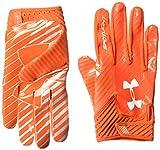 Under Armour Men's Spotlight Football Gloves,Dark Orange (860)/White, Small/Medium