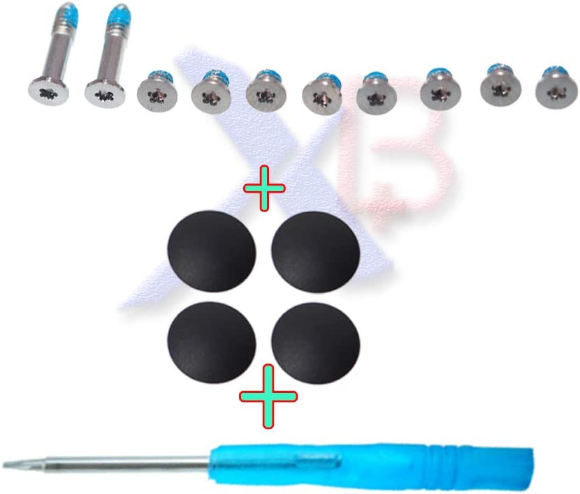 Cable Length: 1set Connectors 4Pcs//lot Plastic feet Bottom Case Cover Feet Foot Kit+Screws Set+Tools for MacBook Air 11 A1370 A1465 - No Rubber