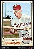 1968 Topps # 98 Gary Sutherland Philadelphia Phillies (Baseball Card) Dean's Cards 2 - GOOD Phillies