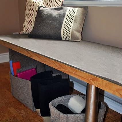 Amazon Com Felt Bench Cushion 72 X 18 5 X 5 16 Thick Natural