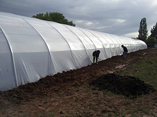 Greenhouse White Plastic Film Polyethylene Covering Gt4 Year 6 Mil 16ft Wide X 25ft Long by SunView White (Image #2)