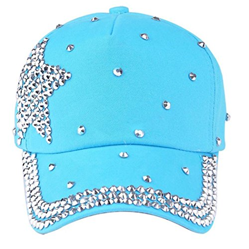 (Franterd, Fashion Baseball Cap Rhinestone Star Shaped Boy Girls Hat)