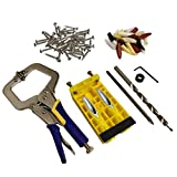 Areally Pocket Hole Jig Kit System, Drill Bit Set with Face Clamp, Pocket Hole Screws and Plugs, for Woodworking Home Carpentry Projects