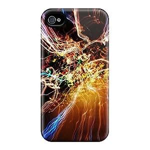For Iphone 4/4s Fashion Design Colourful Light Exposure Case-KXNICPa5914YpdZu