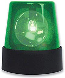 Party / Disco 7 Inch Flashing Green Beacon Light 110V UL Cord