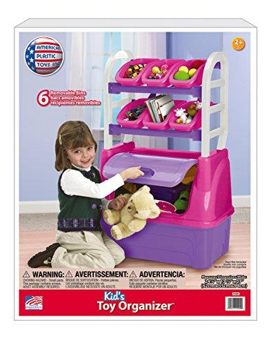 American Plastic Toys Girl's Toy Organizer Playset (Toy Box Plastic)